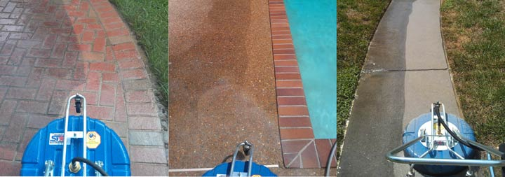 Picture of Knoxville power washing and cleaning surfaces before and after